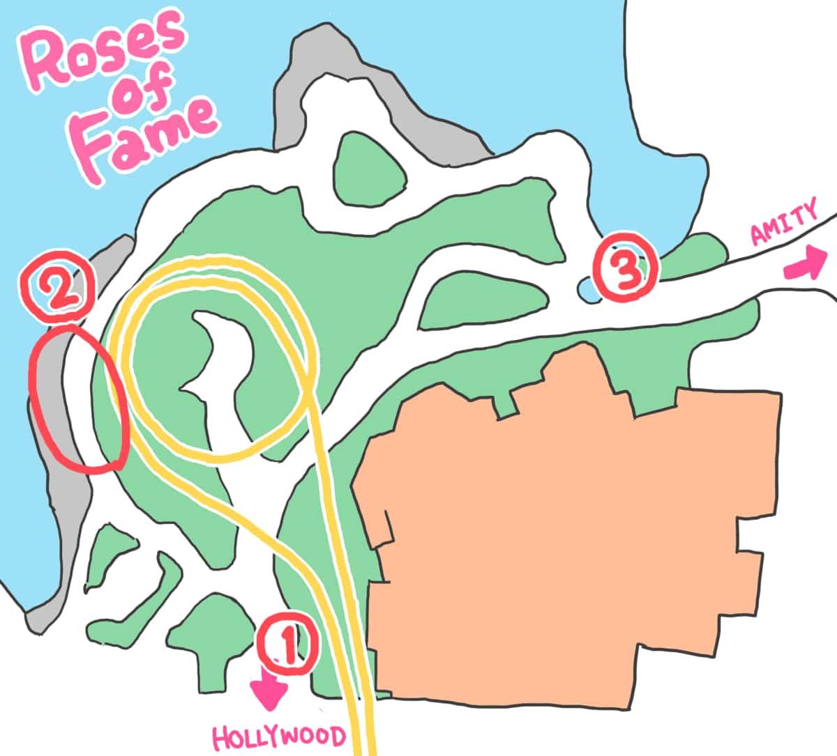 USJバラ園地図