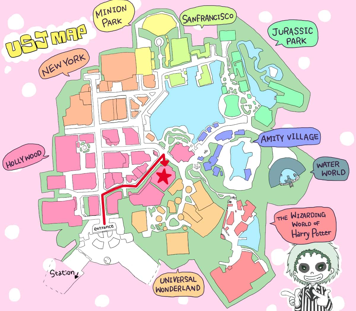 ユニバーサル・モンスター・ライブ・ロックンロール・ショー地図