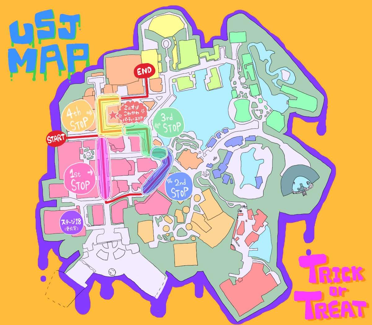 フェスタデパレードコース地図2019