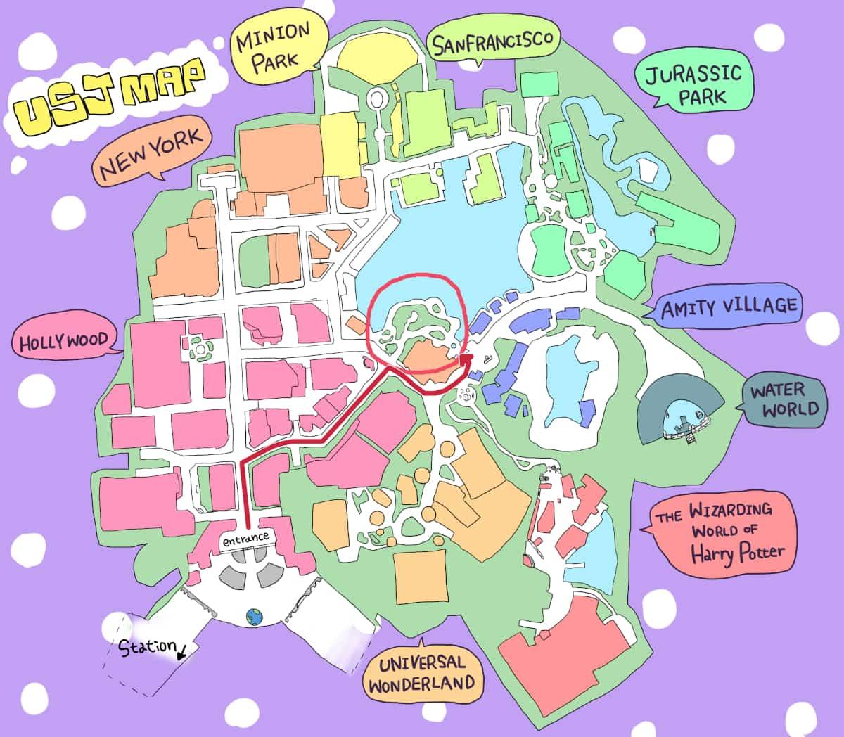 呪われた薔薇園地図