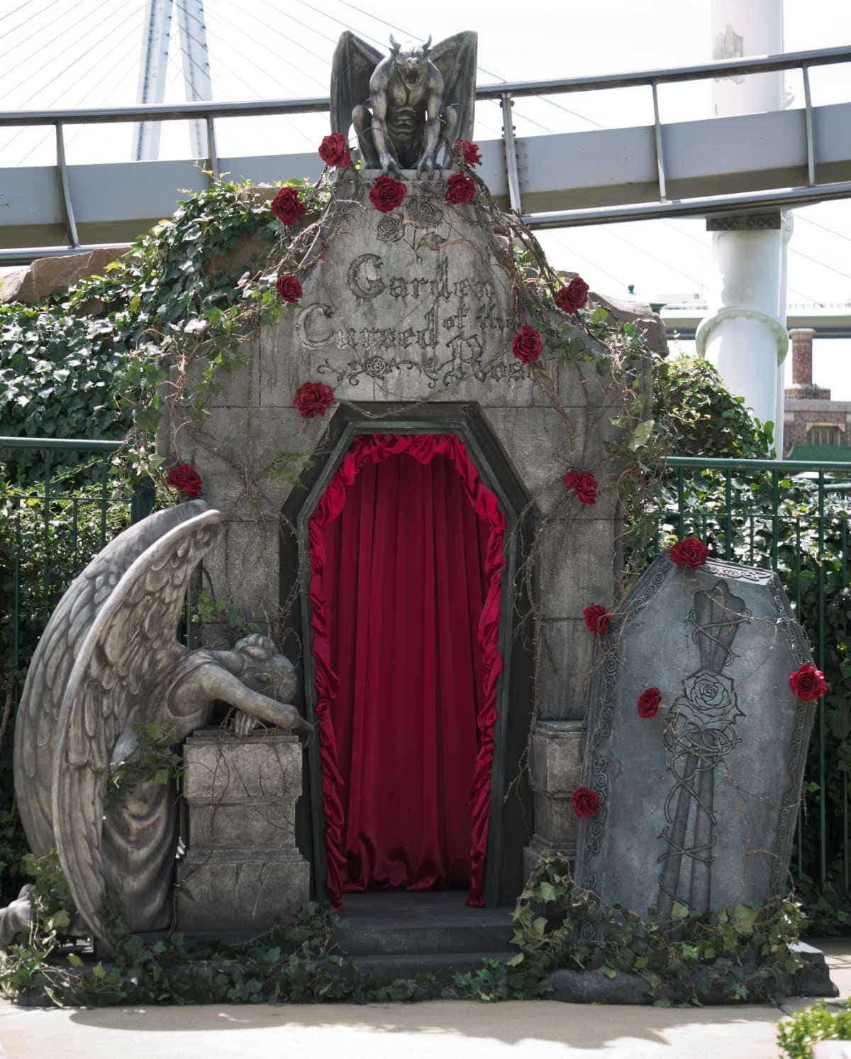 呪われた薔薇園記念撮影スポット
